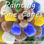 Super quick and simple fall art: Painting Pine Cones