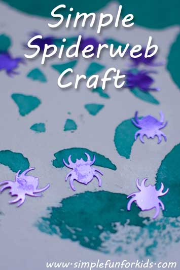 Simple spiderweb craft for kids - for Halloween or just for fun any day of the year!