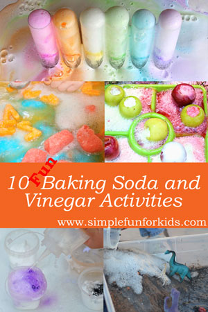 The baking soda and vinegar reaction never gets old - here are 10 fun variations for you to try!