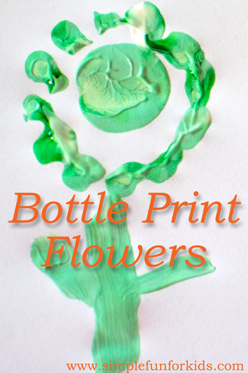 Bottle Print Flowers