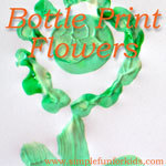 Crafts for kids: Bottle Print Flowers, perfect for spring, or whenever you need some spring cheer!