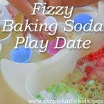 Sensory Activities and Science for Kids: The girls had a BLAST at our Fizzy Baking Soda Play Date!