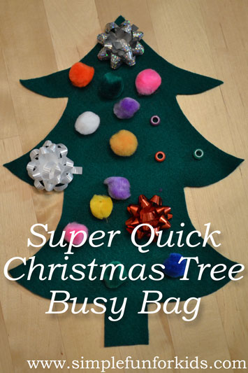 Super Quick Christmas Tree Busy Bag