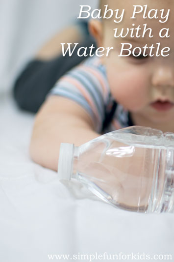 Baby Play with a Water Bottle