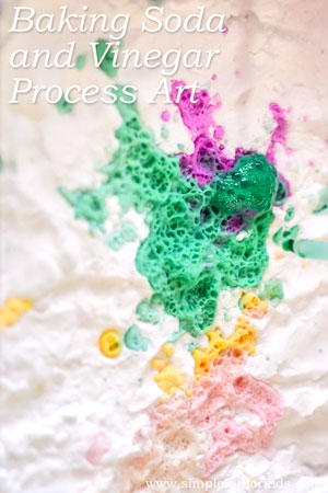 Baking Soda and Vinegar Process Art: Yet another way of having fizzy fun with science!