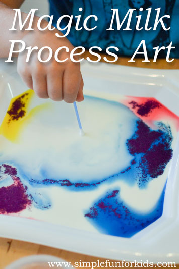 Magic Milk Process Art