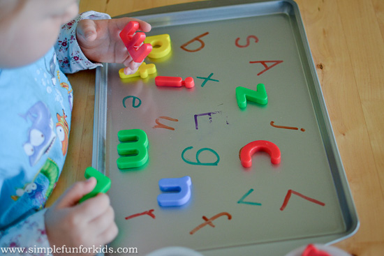 Magnetic Board With Alphabet Letters