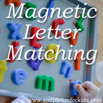 Alphabet Activities for Kids: Make a DIY magnetic letter matching board!