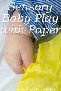 Super simple sensory baby play with paper!