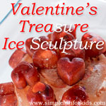 Hunt for Valentine's treasure in a fun little ice sculpture - and learn some science along the way!