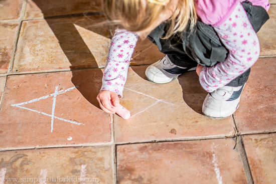 Alphabet Hop: Super simple gross motor learning activity - because learning is more effective and more fun while moving!
