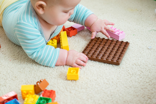 Sensory Baby Play with LEGO: LEGO is for babies, too!