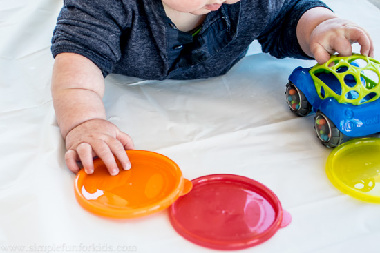 First sensory baby play with sand!