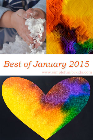 A look back at the best new posts of January 2015 on Simple Fun for Kids!