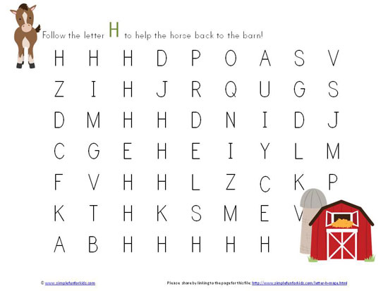 Common Worksheets u00bb Free Printable Letter H Worksheets ...