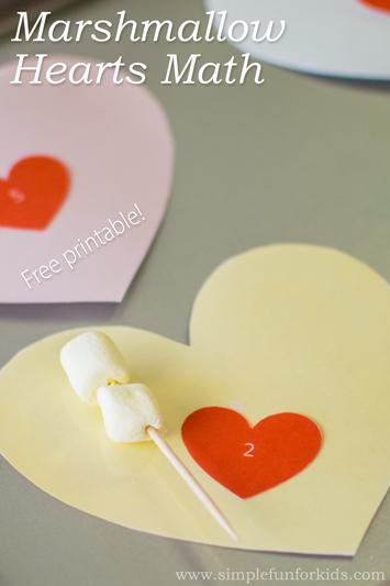 Marshmallow Hearts Math