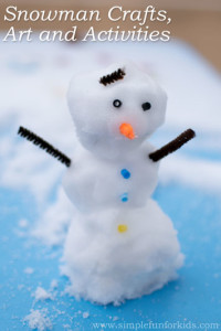 Snowman crafts, art and activities - all things snowman on Simple Fun for Kids!