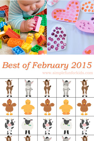 A look back at the best new posts of February 2015 on Simple Fun for Kids!