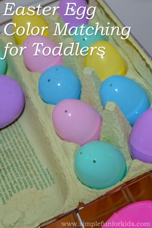 Quick and simple Easter Egg Color Matching activity for toddlers - so easy to set up!