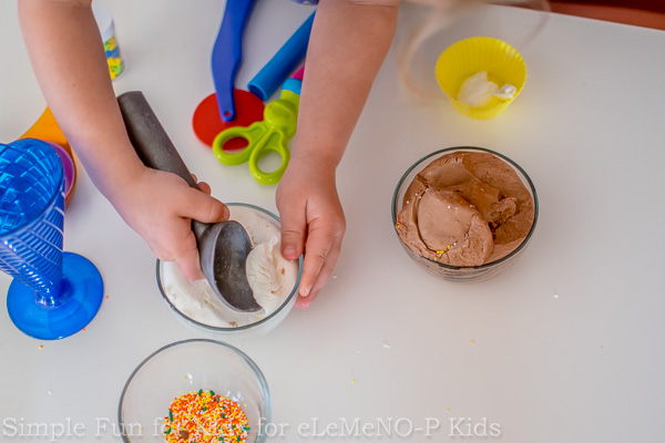 Sensory Activities for Kids: Homemade Ice Cream Dough with Sprinkles!