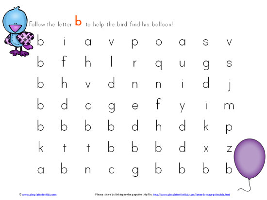 Letter B Maze Printable - Simple Fun for Kids