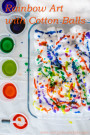 Simple Art and Fine Motor Practice for Kids: Rainbow Art with Cotton Balls