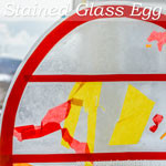 Easter Crafts for Kids: Simple stained glass egg suncatcher!