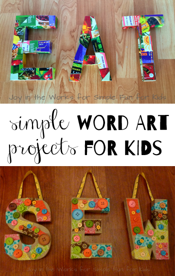Simple Word Art Projects For Kids From Guest Poster Shannon Of Joy In The Works