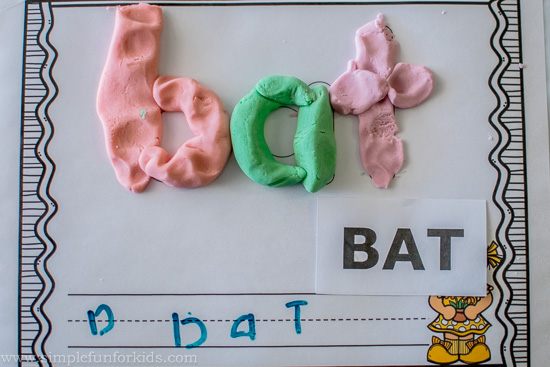 Learning to read? Add interest when the going gets tough with these CVC word play dough mats!