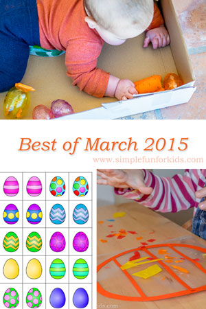A look back at the best new posts of March 2015 on Simple Fun for Kids!