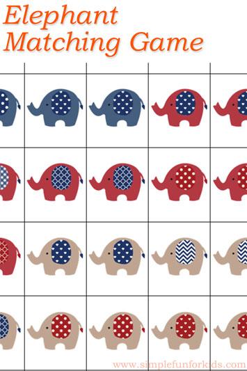 Elephant Matching Game