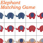 Free Printables for Kids: Super cute elephant matching game!