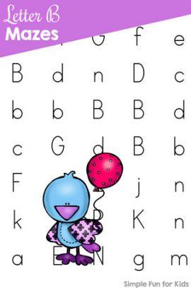 Letter B Maze Printable