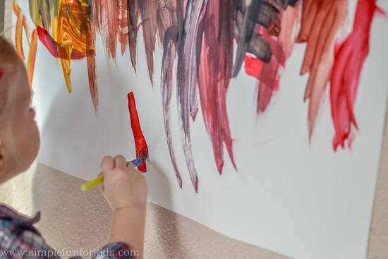 Painting On The Wall Simple Fun For Kids