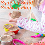 Super simple Squishy Sand Sensory Play!