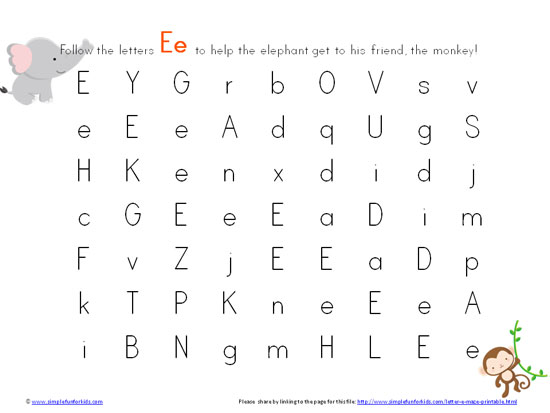 Free Printables for Kids: Learning Letters with Letter E Mazes!