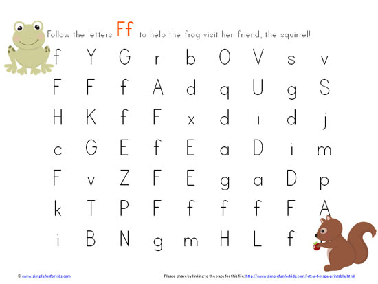 letter f free alphabet worksheets