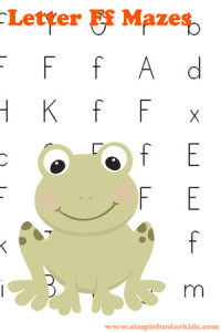 Free Printables for Kids: Learning Letters with Letter F Mazes!