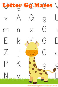Free Printables for Kids: Learning Letters with Letter G Mazes!