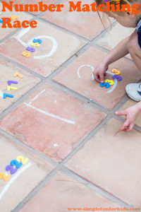 Gross Motor Learning Activities for Kids: Number Matching Race