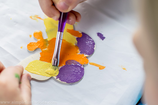 Crafts for Kids: Make simple, colorful painted and jeweled butterflies!