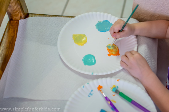 Quick and Simple Art Activities for Kids: Painting Butterflies on the Wall!