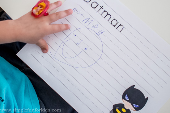 Like superheroes? Try this Superhero Names Writing Practice printable!