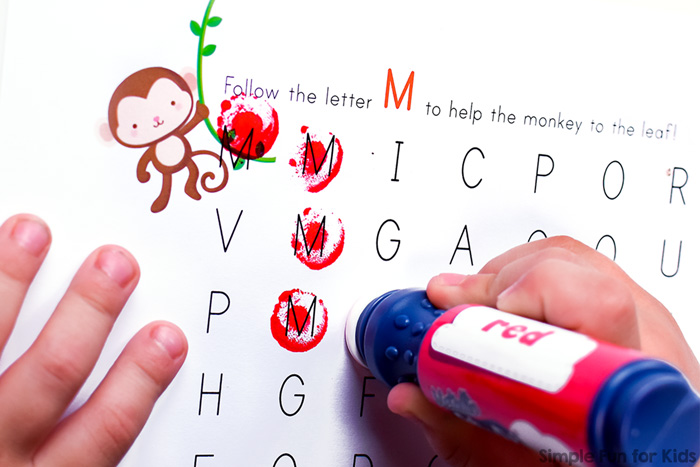 M is for Monkey: Learning letters with letter M mazes for preschoolers and kindergarteners.