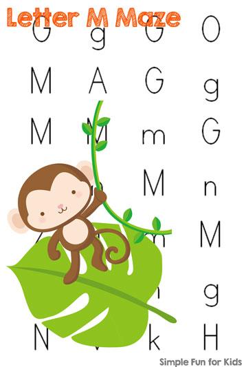 Letter M Maze