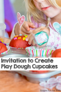 Sensory Pretend Play: Invitation to Create Play Dough Cupcakes