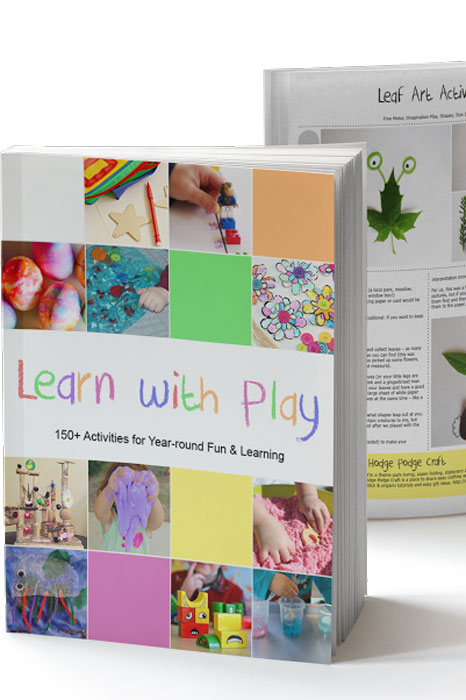 Check out this book! Learn with Play: 150+ Ideas for Year-round Fun & Learning has ideas from 94 contributors, so there's literally something for everyone, from baby to kindergartner!