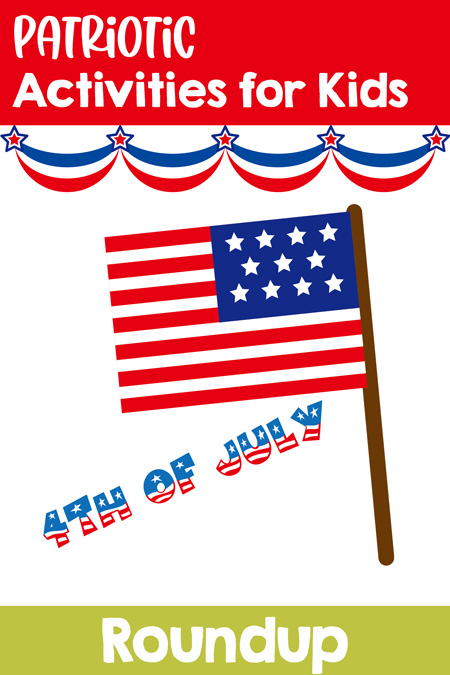 Patriotic Activities for Kids on Simple Fun for Kids! Games, crafts, literacy, math activities, and more for early childhood and elementary school! 4th of July, Memorial Day, Veterans' Day