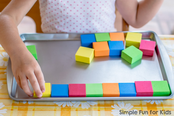 Simple Math Activities for Kids: Patterning with Counting Blocks