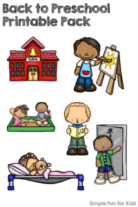 Printables for Kids: Back to Preschool Printable Pack to go with the book Maisy Goes to Preschool